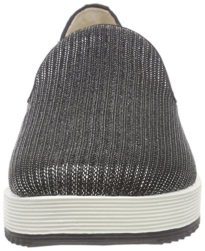 Mujer 01 Buffalo Negro black 15bu0091 Glitter Shoes Mocasines wSxxqvFHTR