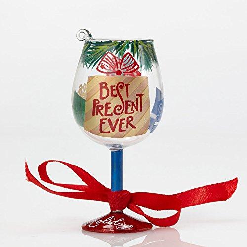 Enesco Mini Wine Best Present Ever Ornament by Lolita, 4