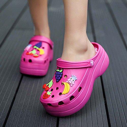 Zapatos rose Las Mule De Sandalias Jardín 35 De Plataforma Zapatillas 40 Zuecos Mujeres Tamaño Zapatillas qaX6tx