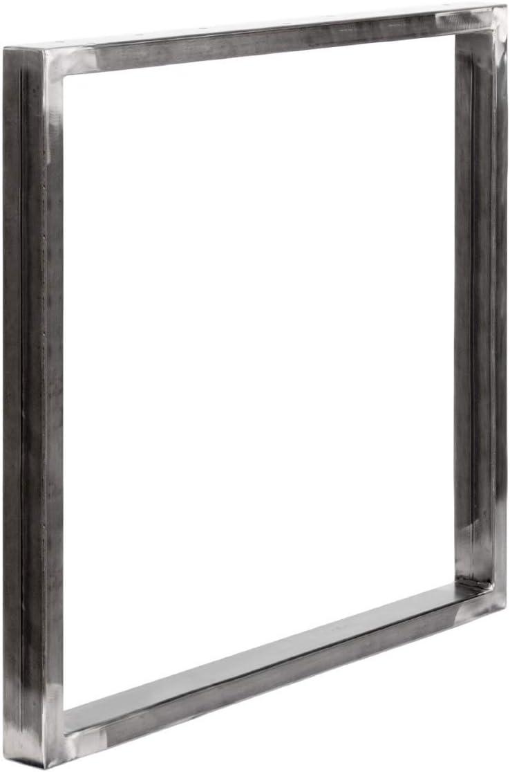 forma de marco 30x43 cm HOLZBRINK Patas de Mesa perfiles de acero 60x30 mm HLT-01-D-AA-9005 Negro Intenso 1 Pieza