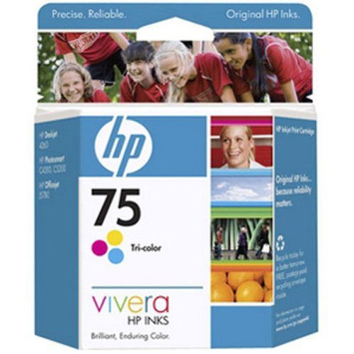 HP 75 Tri-color Ink Cartridge - M35458
