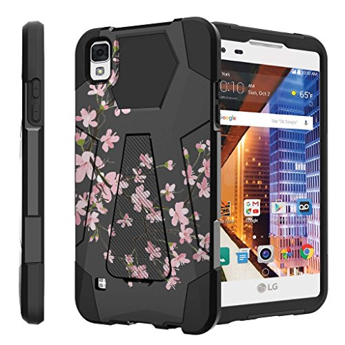 Untouchble Case for LG Tribute HD Hard Case| LG X Style Case, LG Volt 3 Case Case [Traveler Series] Shock Absorbing Drop Protection Dual Layer Case - Pink Cherry Blossoms (Volt Phone Cases For Girls Lg)