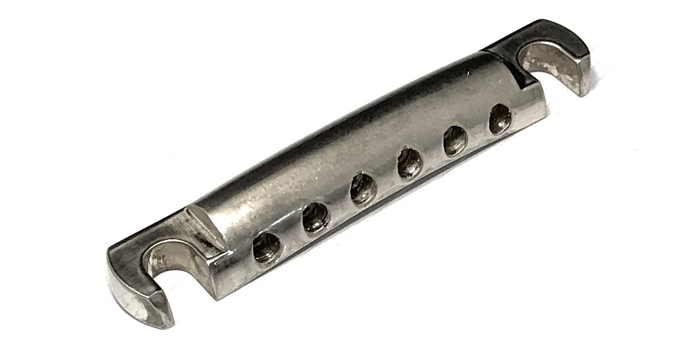 FABER TP-59 AGED NICKEL PLATED LIGHTWEIGHT ALUMINUM STOP TAILPIECE for ALL GIBSON, EPIPHONE and ALL OTHER GUITARS USING A STANDARD STOP TAILPIECE Faber-Germany 4334251743