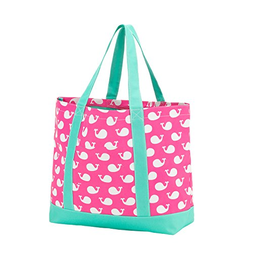 Fashion Heavy Duty Canvas Tote Bag *** Can be Personalized (Blank , Whales)
