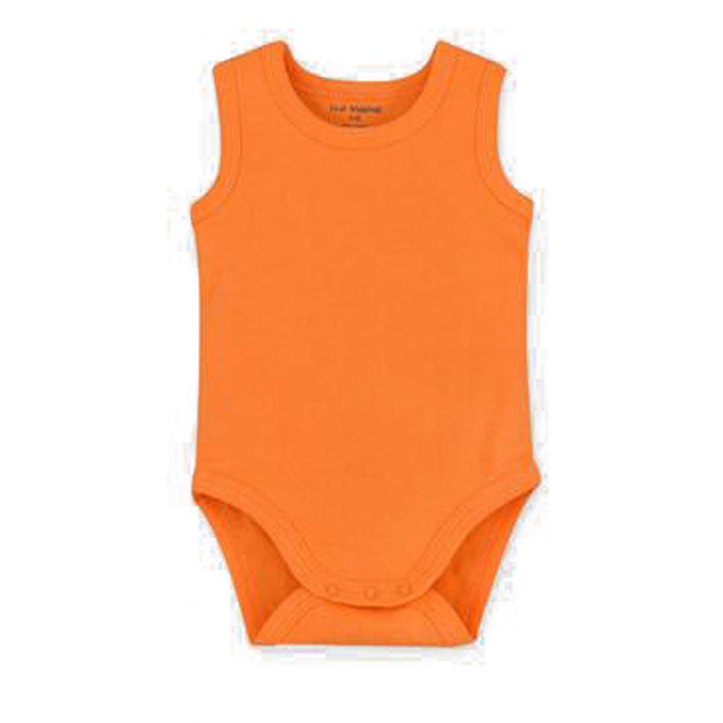 Unisex-Baby Sleeveless Onsies Tank Top Cotton Baby Bodysuit Pack Cardigan Onsies Infants