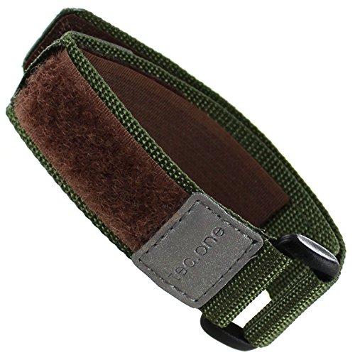 16-20mm Nylon Wrap Green Tec One Sport Watch Band (Band Nylon Watch 17mm)