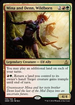 Magic : the Gathering – Mina And Denn、Wildborn ( 156 / 184 ) – Oath of the Gatewatch – Foil