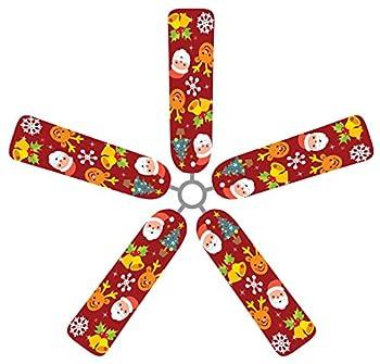 Fan Blade Designs SR-18UZ-JXT6 Ceiling Fan Blade Covers, Santa