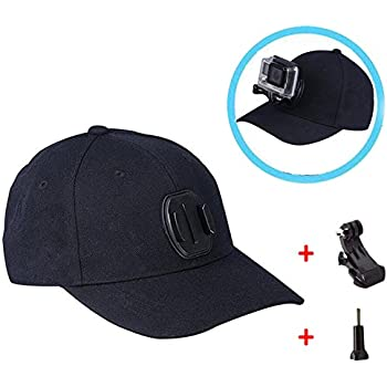 A Dreamyth Baseball Cap for GoPro Action Cameras Holder Hat with J-Hook Buckle Mount Screw