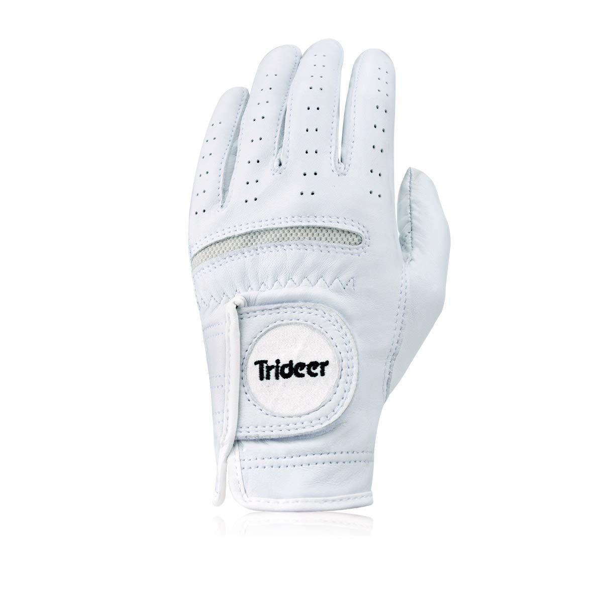trideer純正羊革ゴルフグローブ、通気性&超軽量、メンズ&レディース Medium  B077ZW98F5