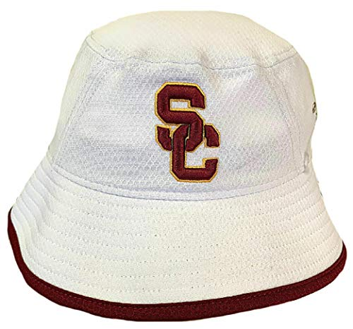 - 289c apparel USC Trojans White New Era Hex Bucket Hat