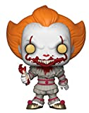 Funko Pop Horror: IT-Pennywise with Severed Arm Amazon Exclusive Collectible Figure, Multicolor
