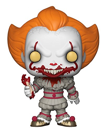 Funko Pop! Horror: IT - Pennywise with Severed Arm, Amazon Exclusive Collectible Figure, Multicolor -