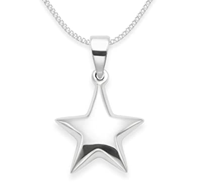 Sterling silver star necklace on 20 chain size 15mm gift boxed sterling silver star necklace on 20quot chain size 15mm mozeypictures Image collections
