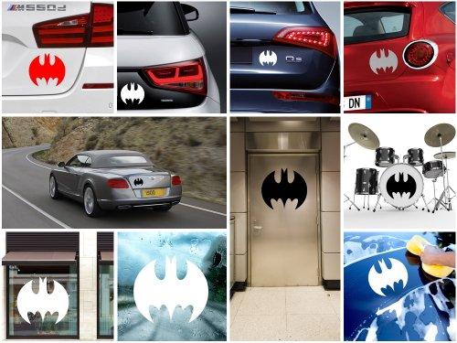 Decals Stickers Batman Decor Room Durable Decoration Waterproof Racing Blue (7 X 6.34 In)