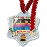 Add Your Own Custom Name, Retro Cites States Countries Napa Christmas Ornament NEONBLOND