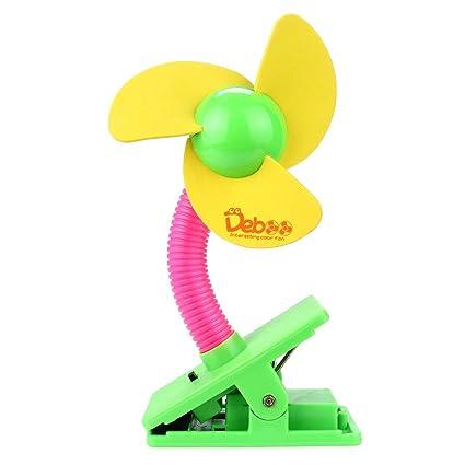 Portable Safe Blades Flexible Clip On Mini Fan for Baby Pram Stroller