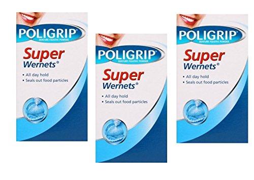 Wernets 3 Pack Denture Fixative Powder For Longer Holding