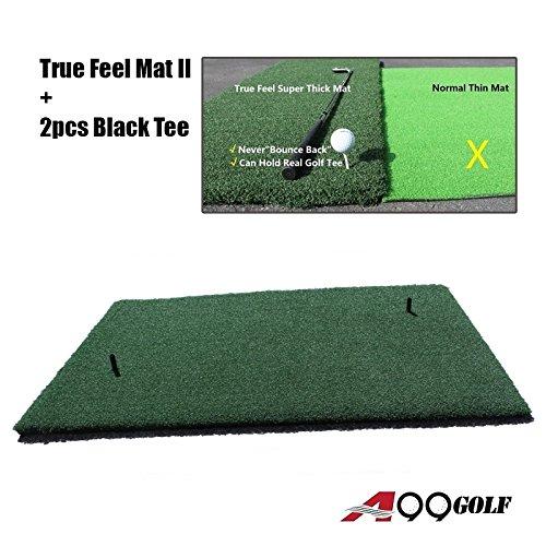 Golf Range True Feel Super Thick mat Golf Chipping Driving Practice Mat 59 x 39 1/2 x1 1/4'' by A99 Golf
