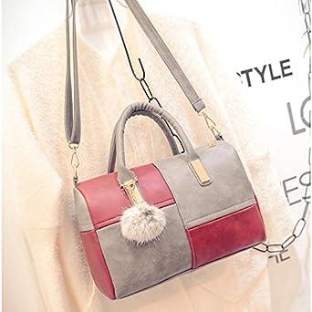 Auntwhale Shoulder Bag Comfortable Splicing Handbag Leisure Clutch Fashion Satchel Messenger Bag for Women