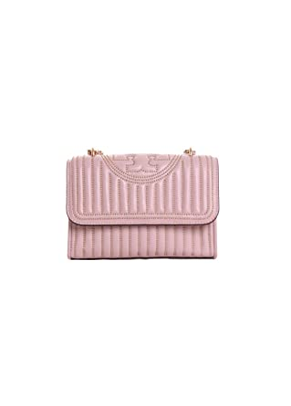 666170c23a5 Amazon.com  Tory Burch Fleming Mini Stud Small Convertible Shoulder Bag in  Shell Pink  Clothing