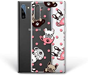 Kaidan Samsung Galaxy Case S9 S8 + Note 9 8 10 Lite A80 A70 A60 A50 S10 5g Dog in Cup iPhone 8 7 Plus French Bulldog 11 Pro Max Cute X XR XS 6 6S SE LG G8 Thinq G7 Paw Print Google Pixel 4 3A XL DL46