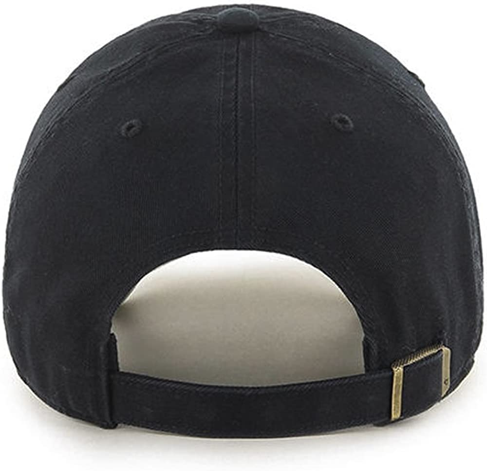 New York Adult Unisex Black//Orange//Vintage Logo MLB Baseball Cap Giants Cooperstown Clean Up Adjustable Hat 47 Brand San Francisco