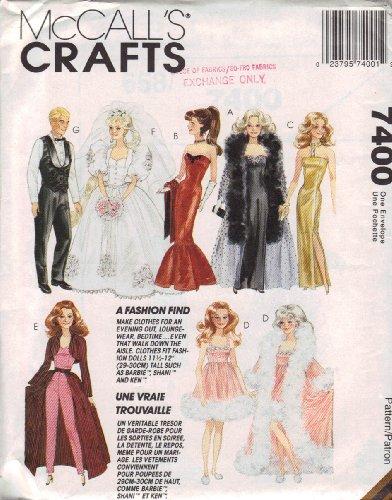 McCall's Craft Fashion Doll Clothes # 7400 (Doll 1994 Fashion)