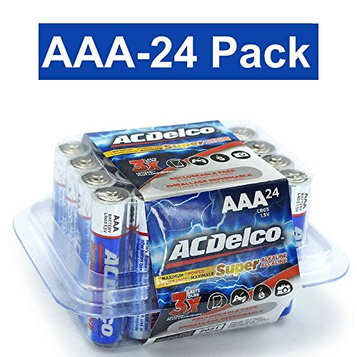ACDelco AAA Super Alkaline Batteries in Recloseable Package, 24 Count