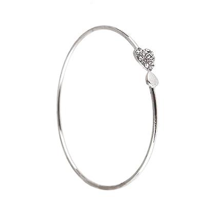 purchase cheap 4bfcc 093c3 LUFA Braccialetto di cristallo del cuore doppio braccialetto delle donne  dei braccialetti Aperto per la festa del partito