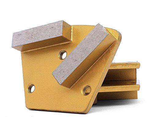 Disc Bond Metal Grinding Diamond (Trapezoid Floor Sanding Disc Diamond Metal Bond Pad 400 Grit for Concrete Grinding (3Pcs/Lot))