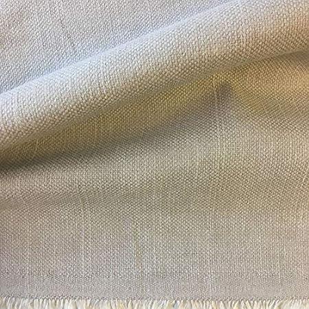 Tela de tapicer/ía lisa Verde glauco algod/ón Acabado desgastado Panam/á lino Retal de 180 cm largo x 140 cm alto