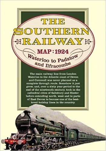 Southern Railway Map Of India.Buy Southern Railway Route Map From London To Ilfracombe And