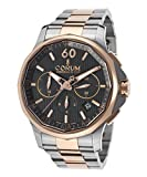 Corum 984-101-24-V705-An11 Men's Admiral's Cup Legend Auto Chrono Ss And 18K Rose Gold Black Dial Watch