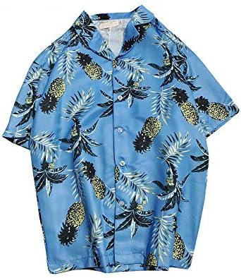 DXHNIIS Camisa Hawaiana de Playa para Hombre Camisa de Manga Corta de Verano Tropical para Hombres Casual Camisas con Botones de algodón Suelto más el tamaño M LE 323TZH: Amazon.es: Deportes y
