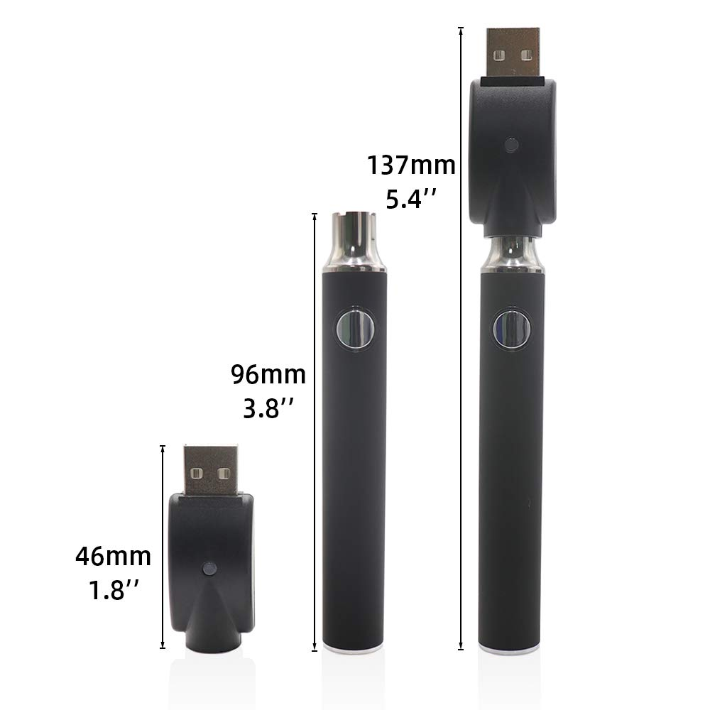 Double Capacity 900 mAh Oil Pen Battery Variable Voltage Black