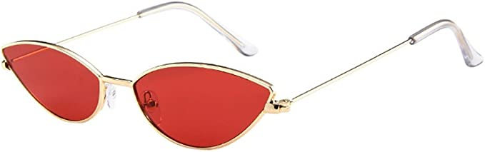 Honestyi Mens Womens Kleine Rahmen Cat Eye Oval Retro