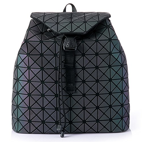 Hotone amp; 2 Luminous Geometric Silver Wallet Backpack Purses And Set no Holographic Daypack qnqRa0Arvx