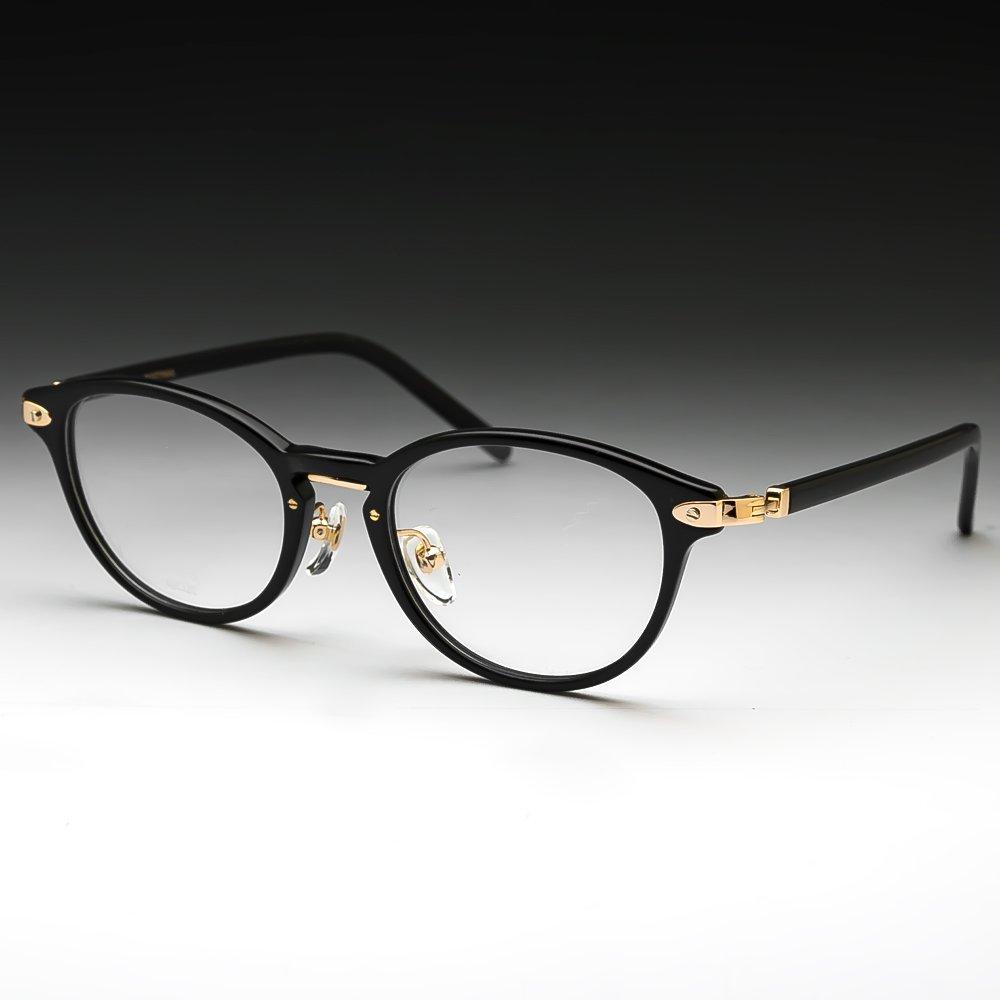 鯖江ワークス(SABAE WORKS) ブルーカット PCメガネ ボストン 黒 K10015C1   B01607VREY