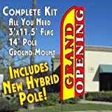 GRAND OPENING (Yellow/Red) Flutter Feather Banner Flag Kit (Flag, Pole, & Ground Mt) Review