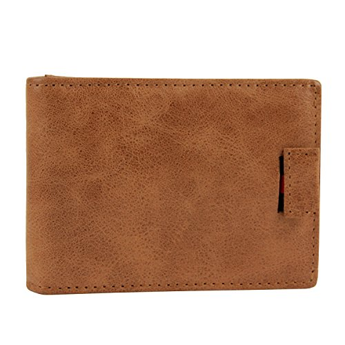 Excellent RFID Credit Travel Brown Wallet Bifold Men Brown Wallet for Leather Protector Artmi Card XYzdY