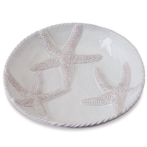 Mud Pie Starfish Wide Pasta Serving Bowl, White