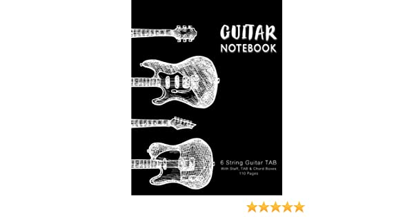 Guitar Notebook: Guitars in Vintage, Music Paper, Blank Manuscript ...