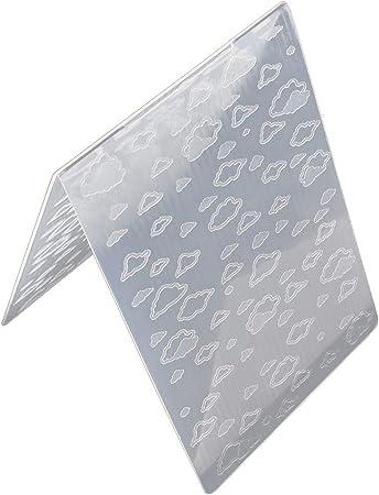 VIccoo Embossing Folder Mod/èle de Dossier de gaufrage en Plastique pour Carte Star Square