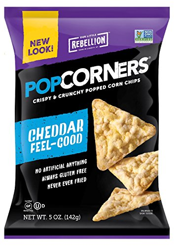 Chips White Cheddar (POPCORNERS Original Cheddar, Popped Corn Chips, Gluten Free, Non-GMO (5oz/12 Pack))