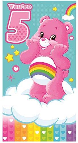 Care Bears - Tarjeta de felicitación de 5 cumpleaños: Amazon ...