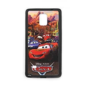 Disney Cars and Mater Image On The Samsung Galaxy Note 4 Black Cell Phone Case AMW898003