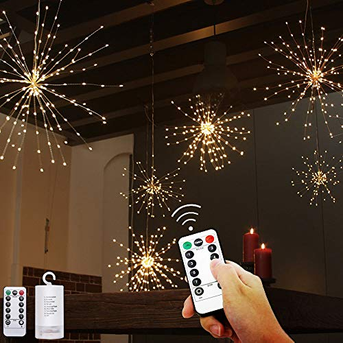 PHILIPOUS 200 LED Firework Lights, Waterproof Starburst Light/Dandelion