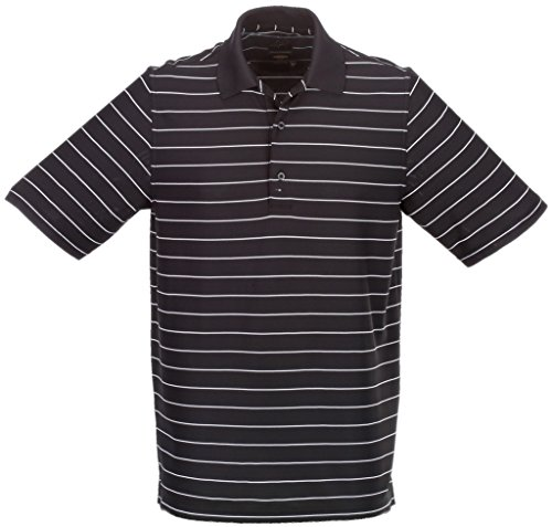 Greg Norman Protek Micro Pique Stripe Polo, Black/White, XX-Large
