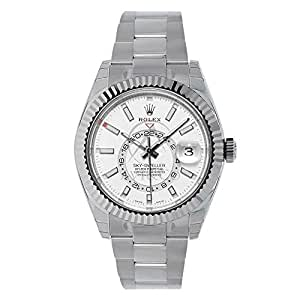 Rolex Sky-Dweller 42mm Stainless Steel & White Gold White Dial Watch 326934